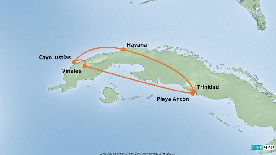 Karte der Reise: Kleingruppe Singles